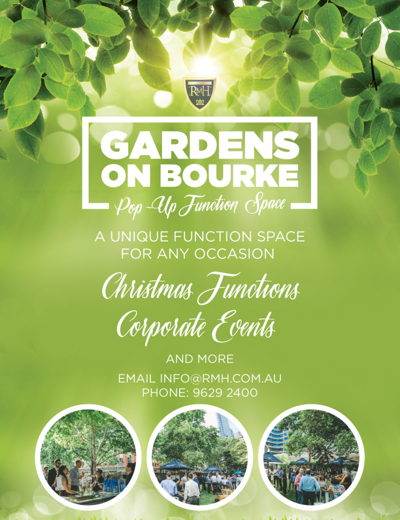 melbourne function venue flyer for garden